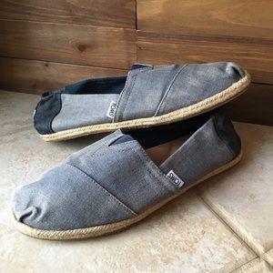 Toms Mens Denim Color Slip On Shoes